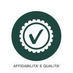 Icona Affidabilità & Qualità + testo