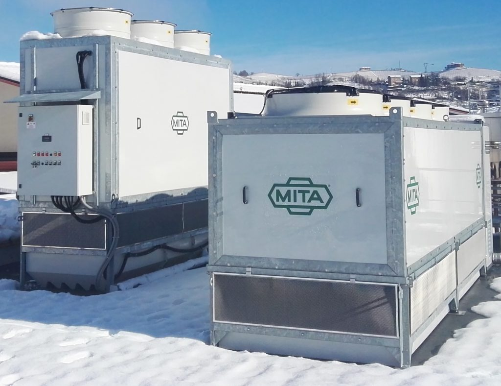 Evaporative Condenser & Adiabatic Gas Cooler for a Langhe Dairy_Food Industry