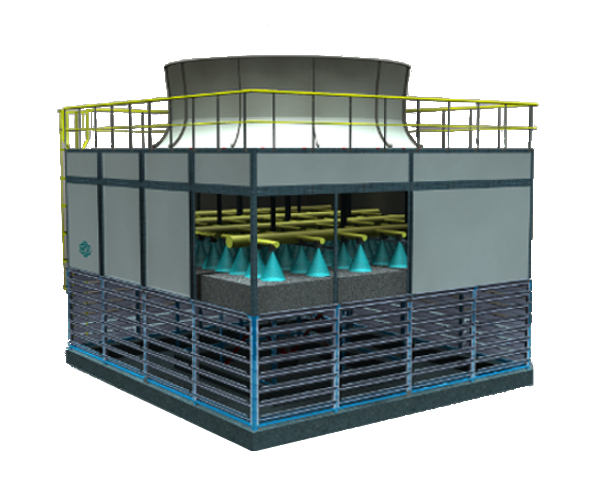 Open Circuit Cooling Tower Rendering