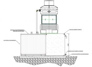 Scheme of a Cooling Tower for a Foundry