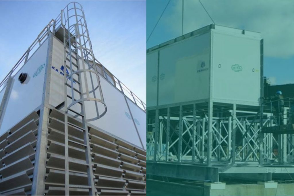 PMM Open Circuit Cooling Towers for SSAB Global Steel Processor in Sweden
