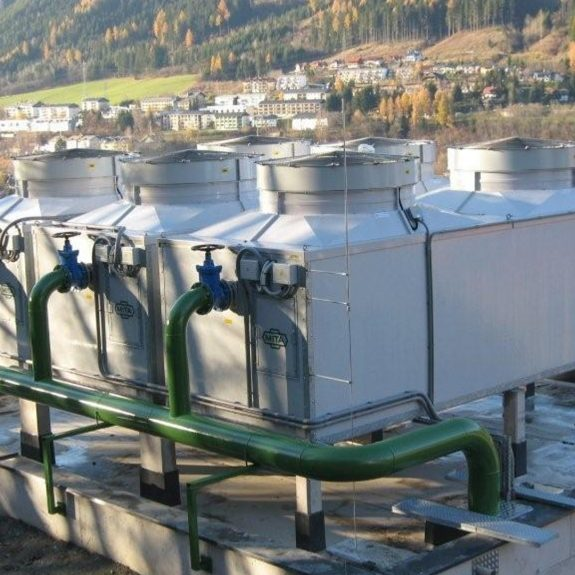 PME-E Open Circuit Cooling Tower for a Snowmaking Plant in Austria