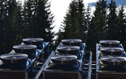 Cooling Towers for Snowmaking in Hopfgarten