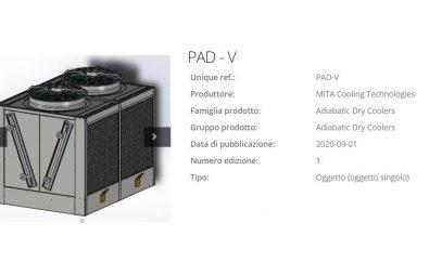 PAD-V Adiabatic Dry Cooler on BIM Objects